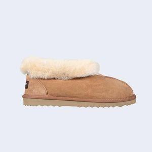 Roozee Shoes - Roozee Women Mate Sherling Slipper Bootie Chestnut